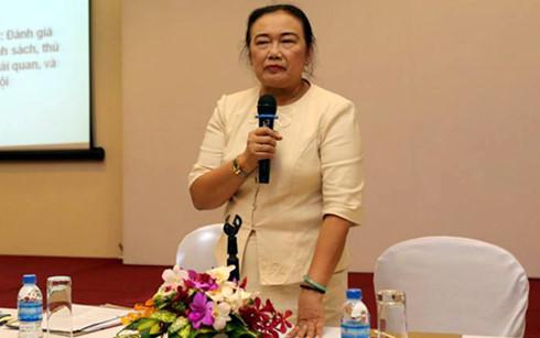 Bà Nguyễn Thị Cúc, Chủ tịch Hội Tư vấn thuế Việt Nam cho rằng vấn đề cơ bản nhất của cải cách thuế vẫn phải là cải cách hệ thống quản lý thuế.(Ảnh: Internet)