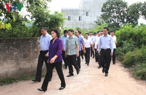 Chủ tịch Quốc hội Nguyễn Thị Kim Ngân thăm xã Gia Cát, huyện Cao Lộc, Lạng Sơn