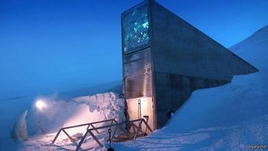 SGSV nằm sâu trong lòng một ngọn núi trên đảo Spitsbergen - Na Uy.