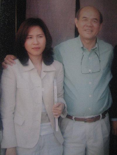 Bị can Khuân cùng con gái là bị can Lâm Ngọc Hân đang trốn ở Mỹ