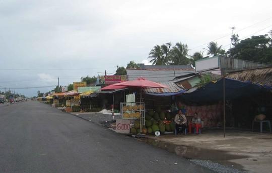 Hàng loạt điểm bán mít dọc quốc lộ 1A đoạn đi qua huyện Phụng Hiệp, tỉnh Hậu Giang