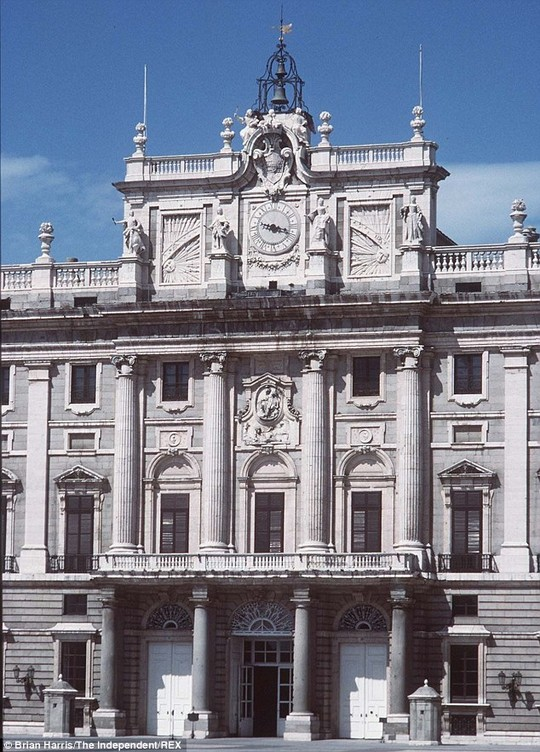 Imposing: The Palacio Real is the largest residence but the Spanish royals live at the Zarzuela Palace instead