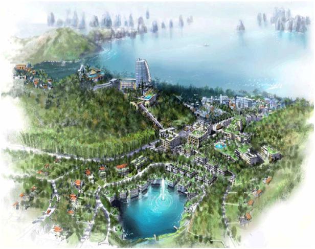 Phối cảnh tổng thể một dự án BĐS của đại gia Dubai ở Việt Nam