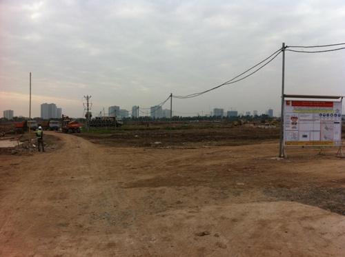 Một phần khu đất của dự án đang được san lấp mặt bằng