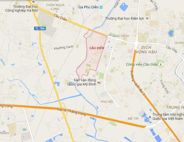 Green City nằm tại tại phường Cầu Diễn, quận Nam Từ Liêm, thành phố Hà Nội.