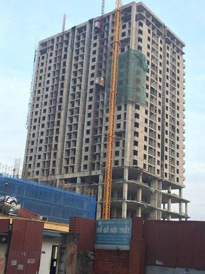 Khu chung cư cao tầng và dịch vụ Phương Đông – Mỹ Sơn Tower xảy ra vụ sập giàn giáo ngày 17/1