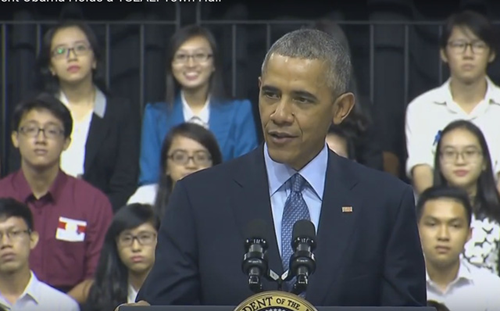 Tổng thống Mỹ bày tỏ sự tin tưởng rằng các bạn trẻ sẽ thay đổi cả khu vực và thế giới.