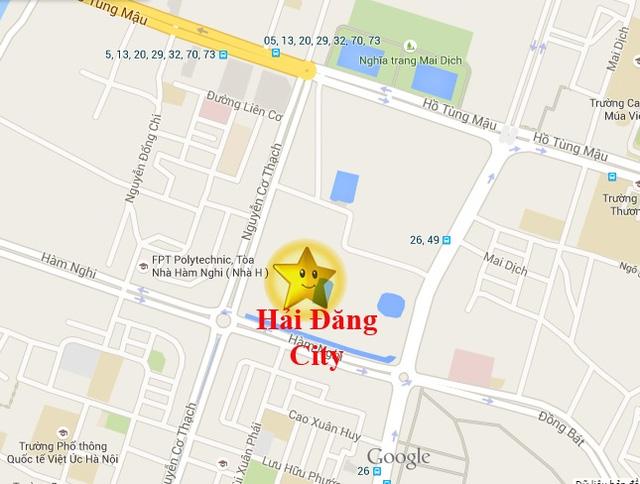Dự án tọa lạc đoạn góc đường Hàm Nghi - Nguyễn Cơ Thạch