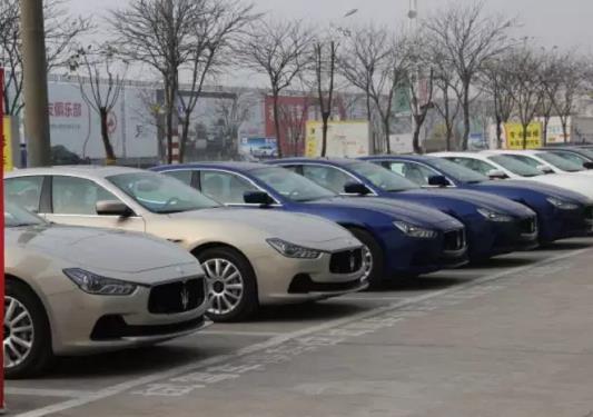 10 chiếc Maserati Ghibli Ảnh: APPLE DAILY