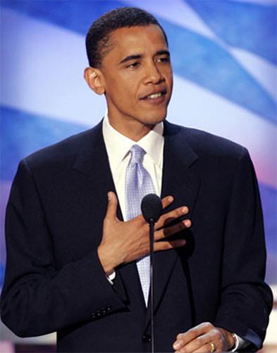 Ngày 27/7/2004, Barack Obama trở thành ứng cử viên Thượng viện Mỹ từ bang Illinois, tại Hội nghị Quốc gia Dân chủ ở Boston, Massachusetts. (Ảnh: Reuters)