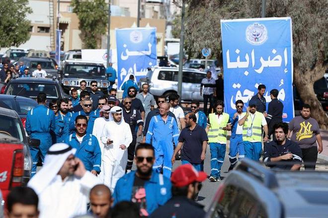 Biểu tình của công nhân ngành dầu mỏ tại Kuwait.