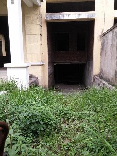 Trong khi đó, hầu hết các căn khác đều đóng cửa cài then, cỏ dại mọc ngập các lối đi