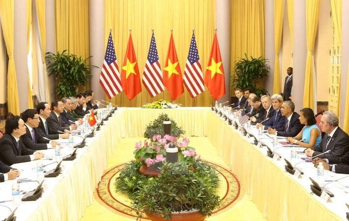 Cuộc hội đàm giữa Chủ tịch nước Trần Đại Quang và Tổng thống Barack Obama
