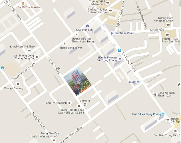 Dự án tọa lạc ngay tại trung tâm quận Thanh Xuân