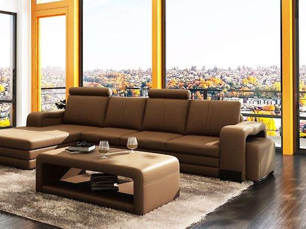 Cá tính và vô cùng sang trọng khi kết hợp với bộ sofa màu tối.