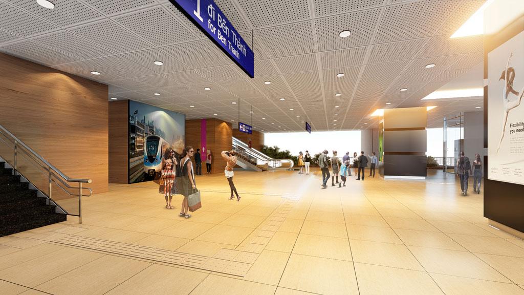 Tại nhà ga này, hành khách dễ dàng tiếp cận các dịch vụ tiện ích vượt trội