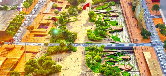 Phối cảnh khu Quảng trường trung tâm Thủ Thiêm