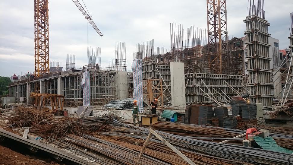 Dự án chung cư Thông tấn xã đang đẩy mạnh xây dựng