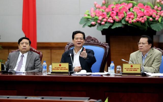 Thủ tướng Nguyễn Tấn Dũng chủ trì Hội nghị giao ban thực hiện tái cơ cấu doanh nghiệp nhà nước chiều 26.3.