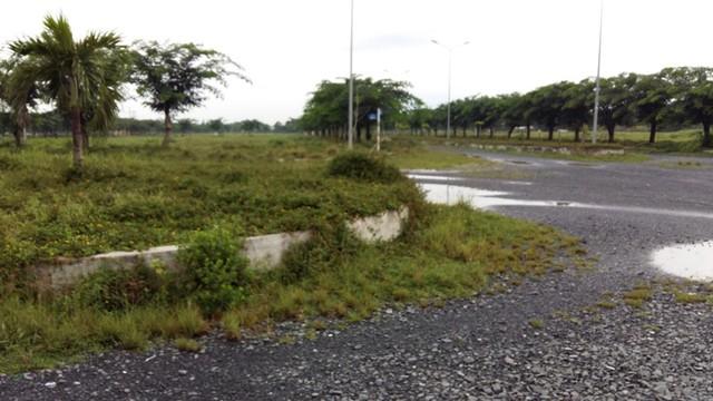 Bên trong dự án khu dân cư Đường 10 tại huyện Bến Lức, do công ty Đầu tư và Xây dựng Tân Thuận làm chủ đầu tư.