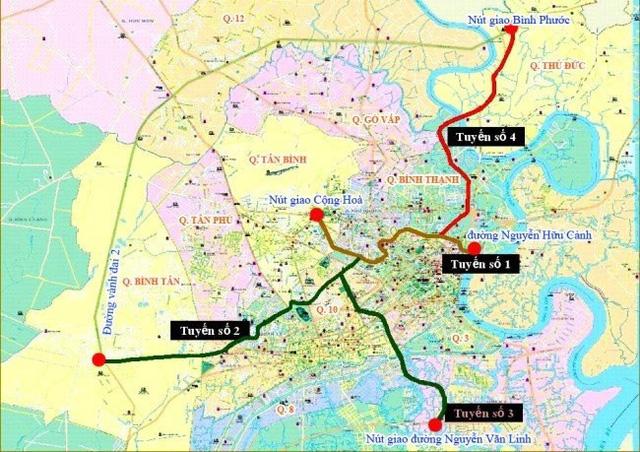 Quy hoạch 5 tuyến đường trên cao của TP.HCM.
