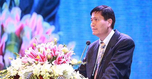 Đại sứ Lê Quốc Thịnh – Phó Chủ nhiệm Ủy ban Nhà nước về người Việt ở nước ngoài – đại diện bà con kiều bào cảm ơn sự đón tiếp thịnh tình của lãnh đạo tỉnh Vĩnh Phúc và Tập đoàn FLC.
