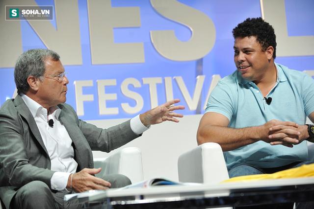 Sư phụ Sir Martin Sorrell và học trò Ronaldo giờ đã là đối tác của nhau.