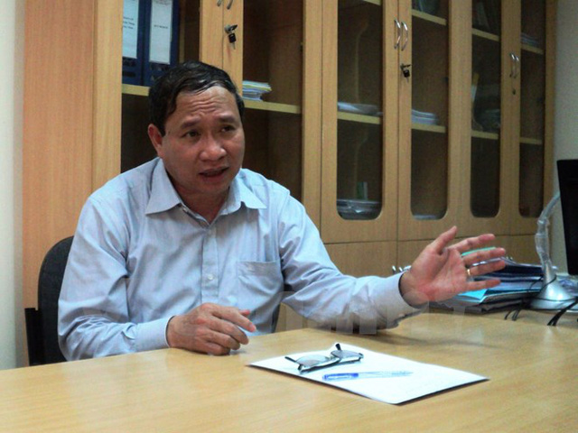 Cục trưởng Cục Trồng trọt, Ma Quang Trung nhấn mạnh quan điểm giữ đất vùng Đồng bằng sông Cửu Long để phát triển cây lúa chủ lực. (Ảnh: Thanh Tâm/Vietnam+)