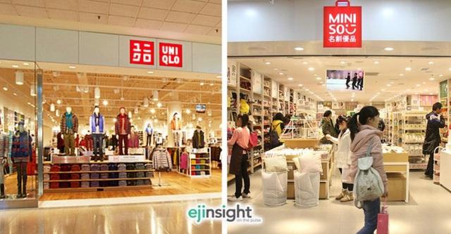 Logo của Miniso và Uniqlo trông... na ná nhau.