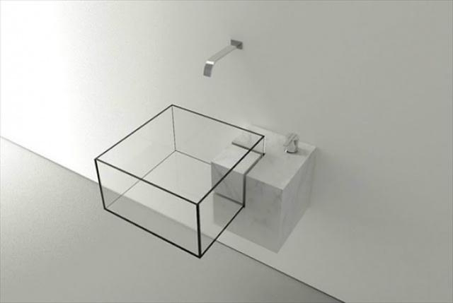Bồn rửa 3D bắt mắt.
