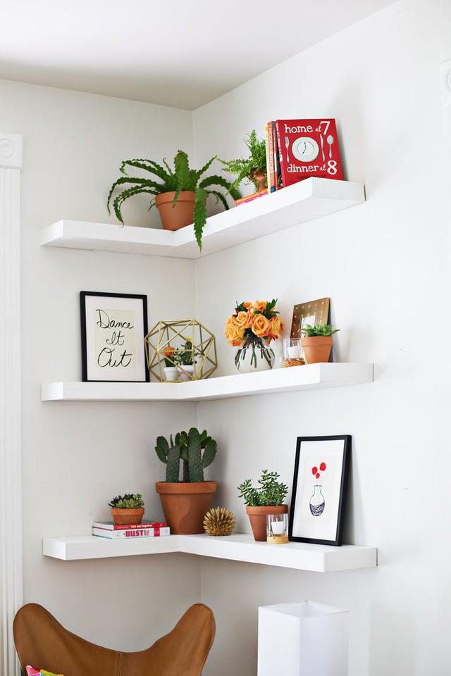 Kệ gắn tường cũng là một lựa chọn lý tưởng để làm đẹp cho góc tường nhà bạn.