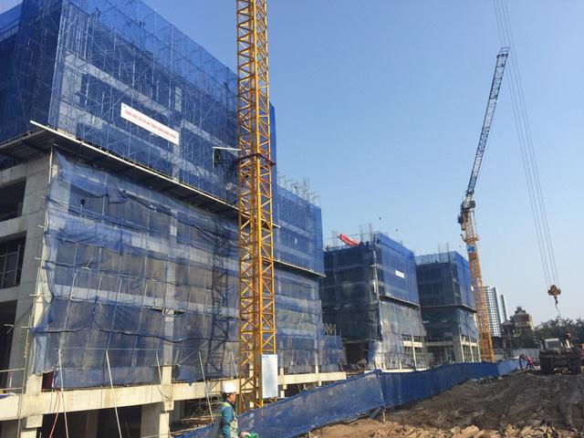 Các tòa nhà chung cư Imperia Garden đang xây dựng phần thân (tháng 2/2016)