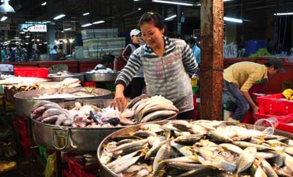Doanh số tháng của tập đoàn lớn thua xa quầy cá chợ Bình Điền