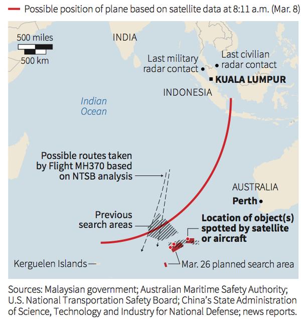 [MH370] Vệ tinh Pháp phát hiện 122 mảnh vỡ có thể của máy bay MH370