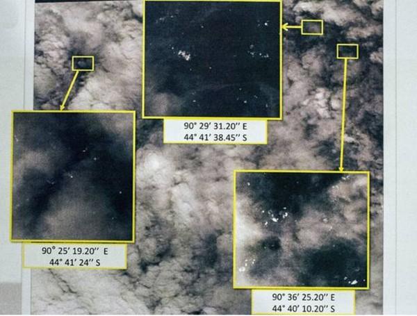 [MH370] Vệ tinh Thái Lan phát hiện 300 vật thể trôi nổi nghi của MH370