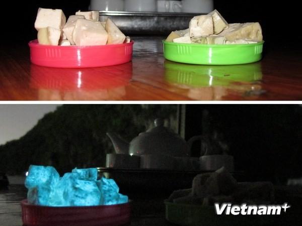 Quảng Ninh: Giò lụa phát sáng bất thường trong đêm