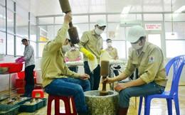 Cận cảnh chế biến chả mực giá nửa triệu/kg ở Quảng Ninh