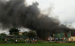 Cháy lớn tại công ty Diana ở Khu công nghiệp Vĩnh Tuy