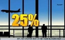 25% số chuyến bay ở Việt Nam bị hoãn, hủy