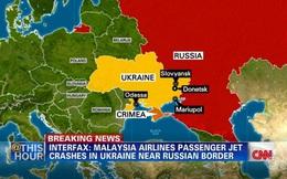 [Map] Hình ảnh khó tin trên không phận Ukraina sau vụ MH17