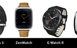 So sánh SmartWatch: SmartWatch 3, ZenWatch, G Watch R, Gear S