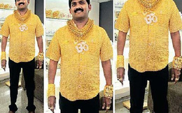 Triệu phú Ấn Độ khoe áo bằng vàng ròng