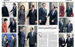 Tổng thống Pháp lúng túng khi nhiệt tình bắt tay nhưng bị thờ ơ